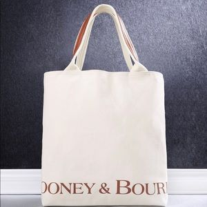 Dooney & bourke leather trim recycle canvas bag